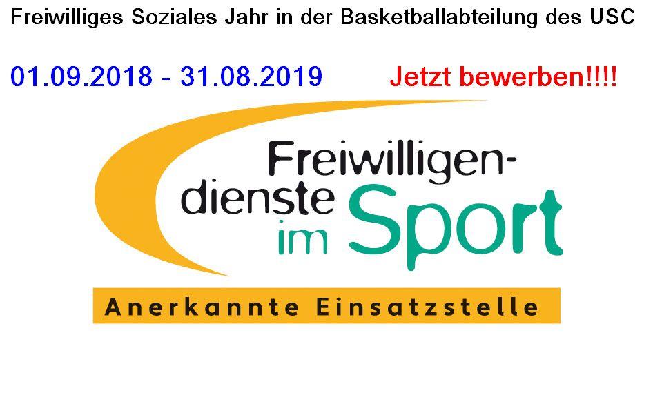 Jetzt für die FSJ-Stelle in der Basketballabteilung vom 01.09.2018-31.08.2019 bewerben