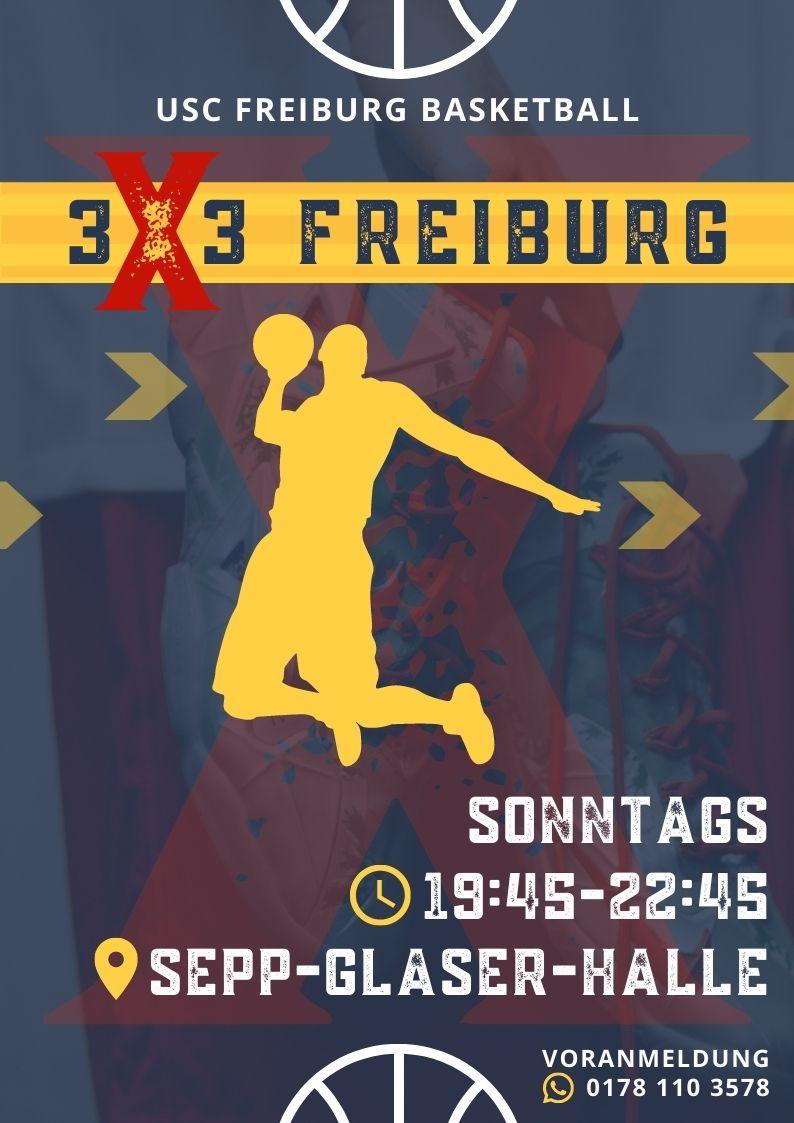 3×3 Basketball Freiburg ab 11.10.2020 geht es los
